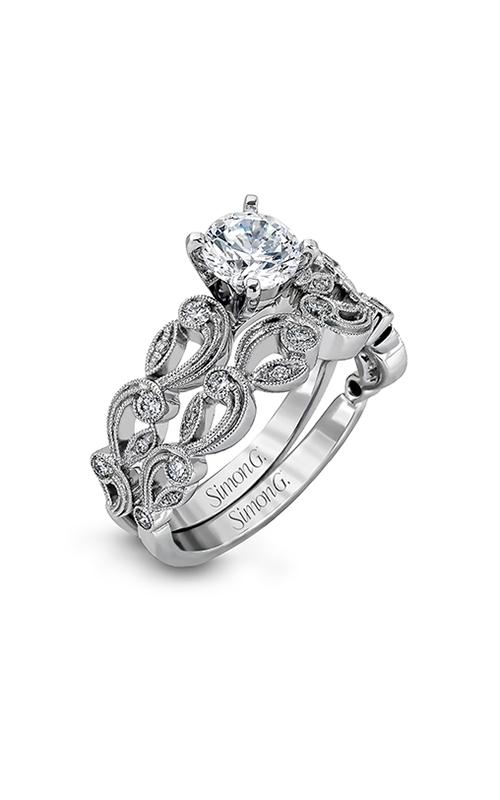 Simon G Duchess - 18k white gold 0.28ctw Diamond Engagement Ring, TR473 product image