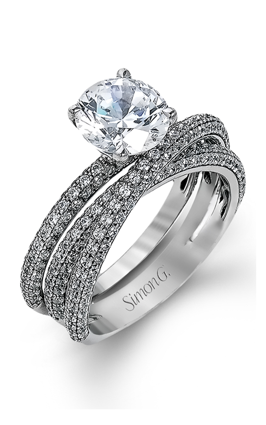 Simon G Delicate - 18k white gold 1.59ctw Diamond Engagement Ring, MR1577-D product image