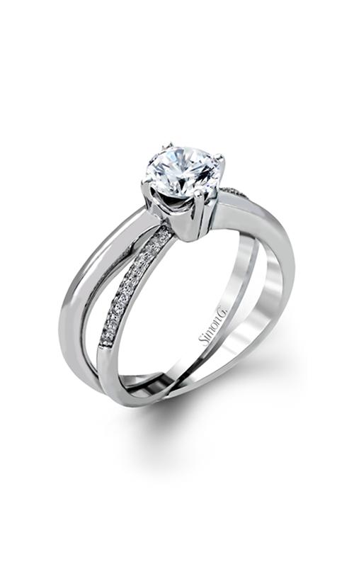 Simon G Classic Romance - 18k white gold 0.13ctw Diamond Engagement Ring, MR1906 product image