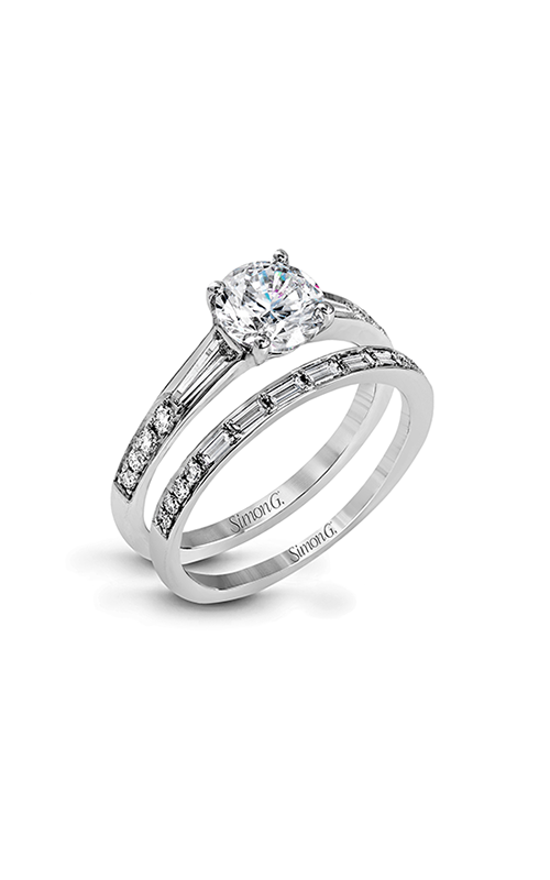 Simon G Vintage Explorer - 18k white gold 0.74ctw Diamond Engagement Ring, MR2220 product image