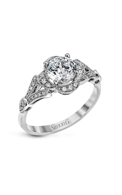 Simon G Vintage Explorer - 18k white gold 0.21ctw Diamond Engagement Ring, TR561 product image
