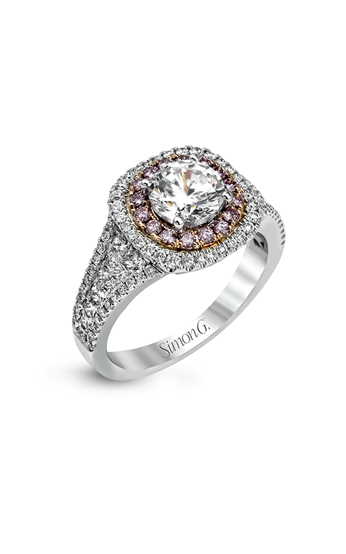 Simon G Passion - 18k white gold, 18k rose gold 0.80ctw Diamond Engagement Ring, MR2453 product image