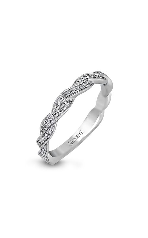 Simon G Classic Romance - 18k white gold 0.24ctw Diamond Wedding Band, MR1498-B product image