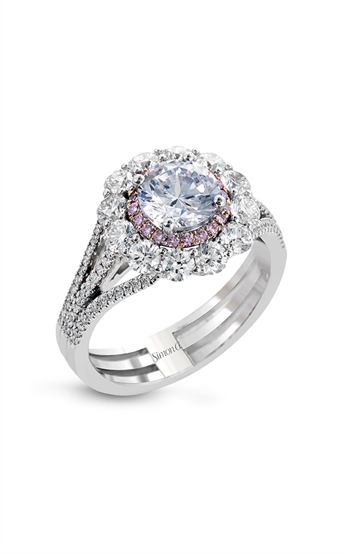 Simon G Passion - 18k white gold, 18k rose gold 1.13ctw Diamond Engagement Ring, MR2617 product image