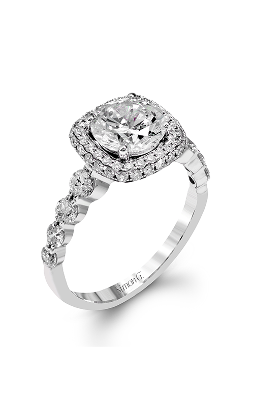 Simon G Passion - 18k white gold 0.86ctw Diamond Engagement Ring, MR2477 product image