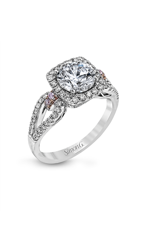 Simon G Passion - 18k white gold, 18k rose gold 0.45ctw Diamond Engagement Ring, MR1828 product image