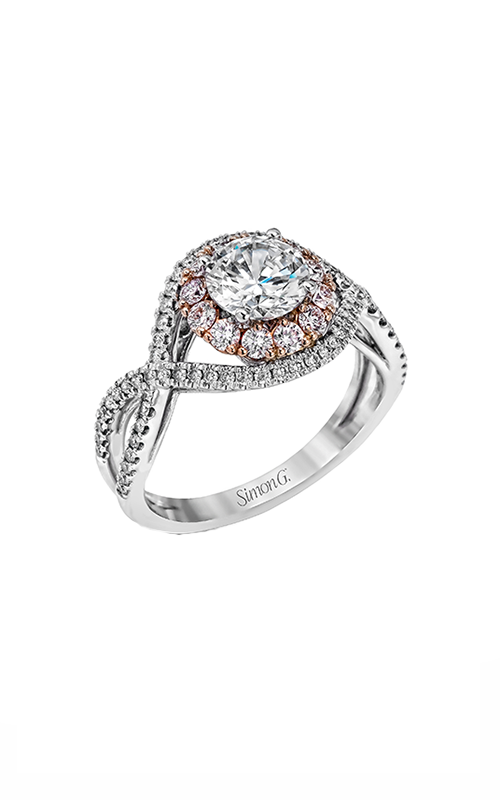 Simon G Passion - 18k white gold, 18k rose gold 0.68ctw Diamond Engagement Ring, MR2496 product image