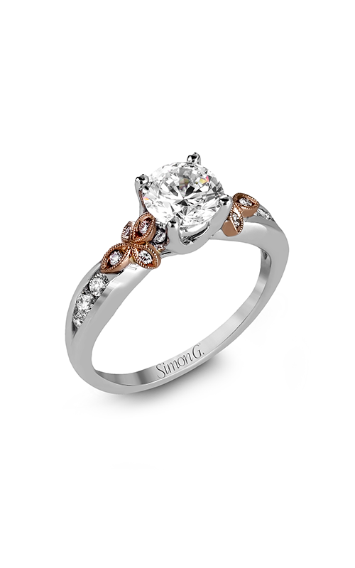 Simon G Garden - 18k white gold, 18k rose gold 0.24ctw Diamond Engagement Ring, MR2646 product image