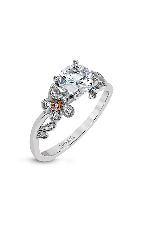 Simon G Garden - 18k white gold, 18k rose gold 0.19ctw Diamond Engagement Ring, MR2615 product image