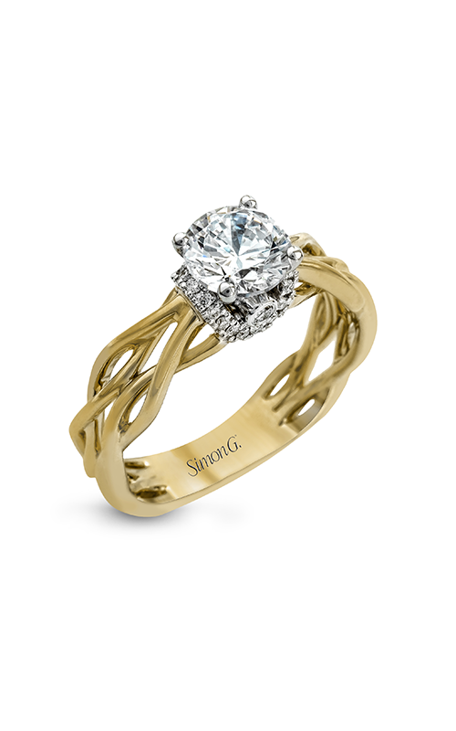 Simon G Classic Romance - 18k white gold, 18k yellow gold 0.13ctw Diamond Engagement Ring, MR2511 product image