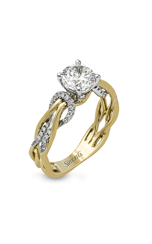 Simon G Classic Romance - 18k white gold, 18k yellow gold 0.17ctw Diamond Engagement Ring, MR2514 product image