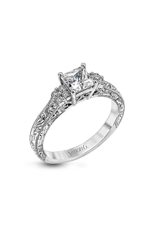 Simon G Vintage Explorer - 18k white gold 0.15ctw Diamond Engagement Ring, LP2253 product image