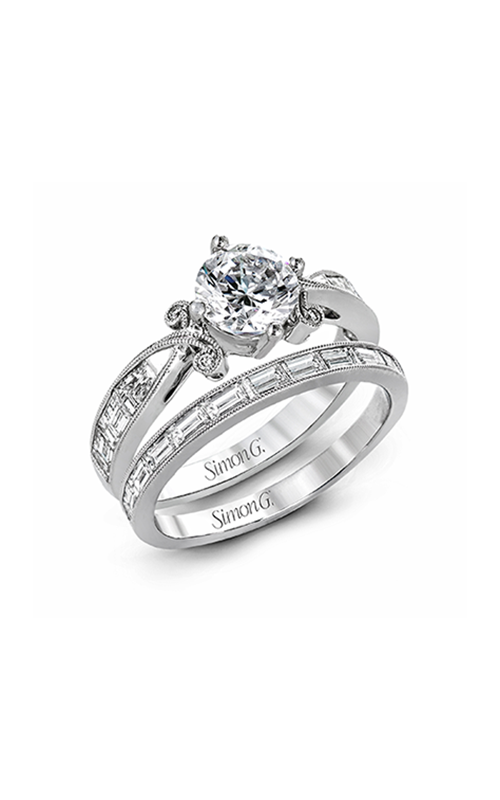 Simon G Vintage Explorer - 18k white gold 1.25ctw Diamond Engagement Ring, TR595 product image