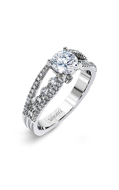 Simon G Delicate - 18k white gold 0.58ctw Diamond Engagement Ring, MR2248-D product image