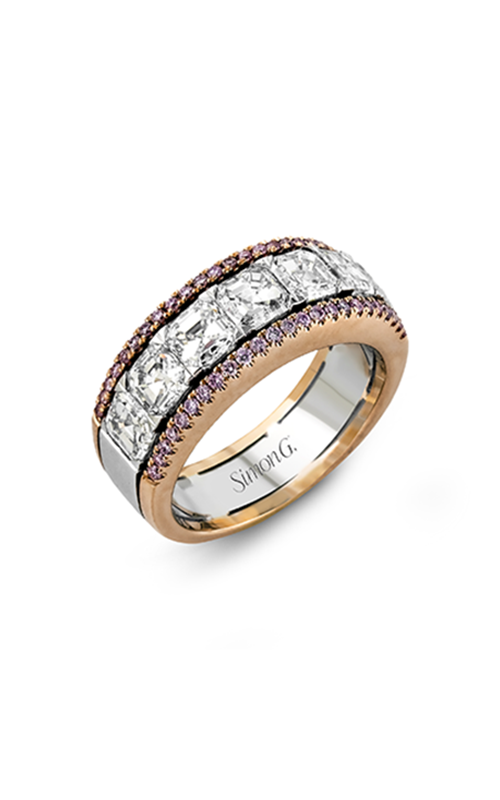 Simon G Modern Enchantment - 18k white gold, 18k rose gold 0.28, 2.83ctw Diamond Wedding Band, MR2340 product image
