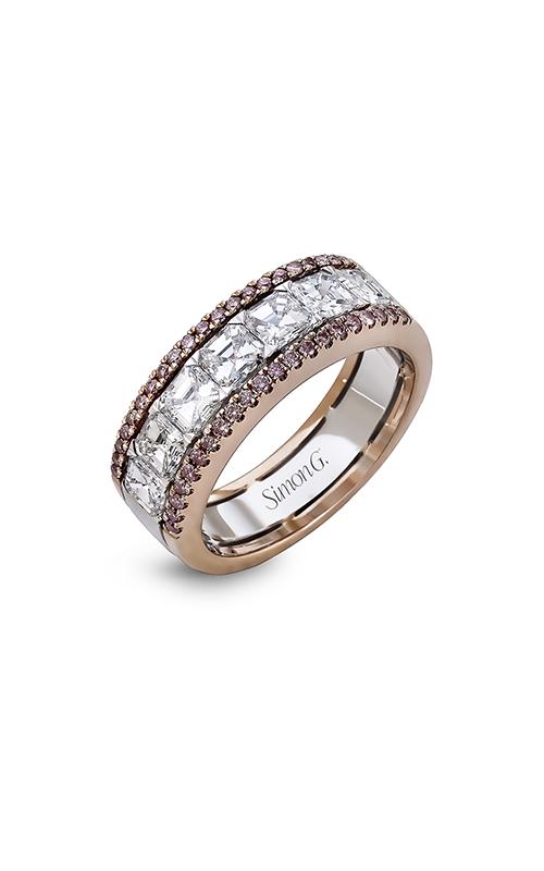 Simon G Modern Enchantment - 18k white gold, 18k rose gold 0.24, 1.70ctw Diamond Wedding Band, MR2339 product image