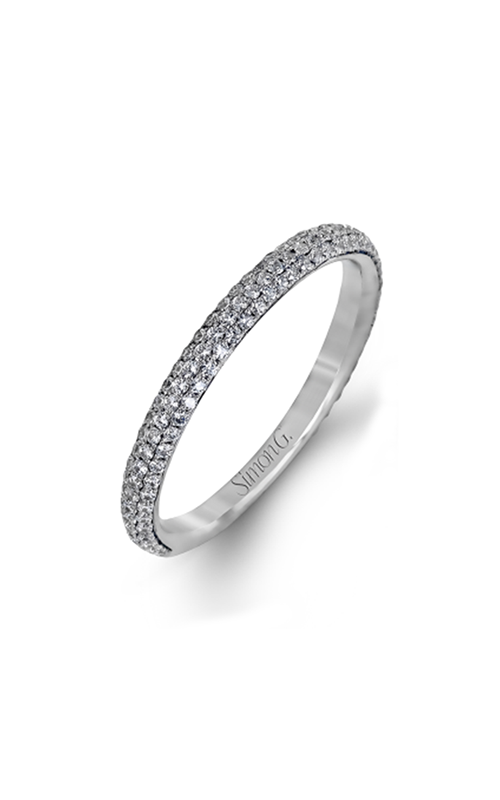 Simon G Caviar - 18k white gold 0.86ctw Diamond Wedding Band, LP1935 product image