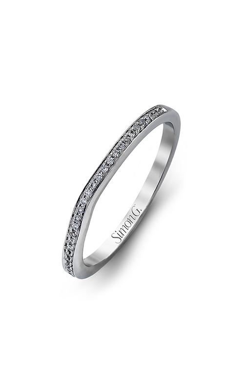 Simon G Caviar - 18k white gold 0.16ctw Diamond Wedding Band, MR1507 product image