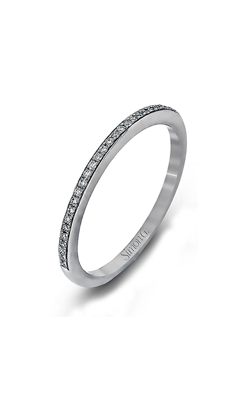 Simon G Caviar - 18k white gold 0.21ctw Diamond Wedding Band, MR1511 product image