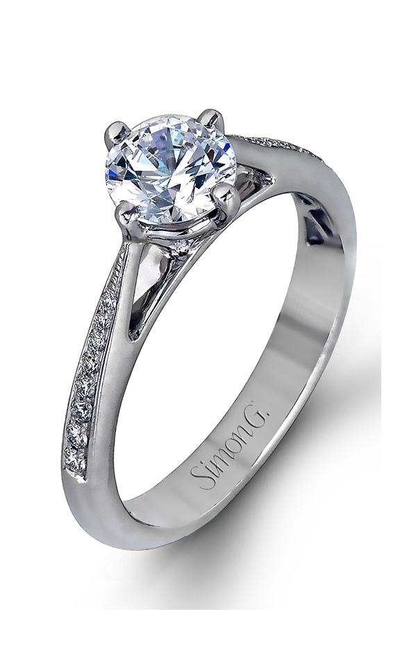 Simon G Caviar - 18k white gold 0.21ctw Diamond Engagement Ring, MR1511 product image