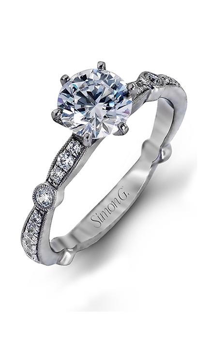 Simon G Vintage Explorer - 18k white gold 0.59ctw Diamond Engagement Ring, MR1546 product image