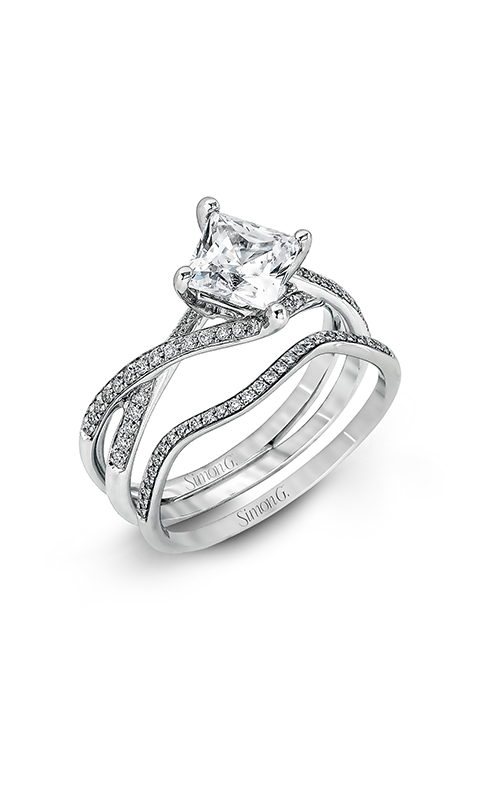 Simon G Classic Romance - 18k white gold 0.23ctw Diamond Engagement Ring, MR1395 product image