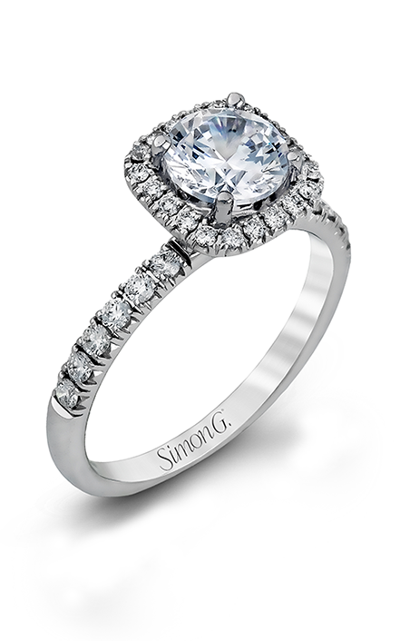 Simon G Passion - 18k white gold 0.76ctw Diamond Engagement Ring, MR2132 product image