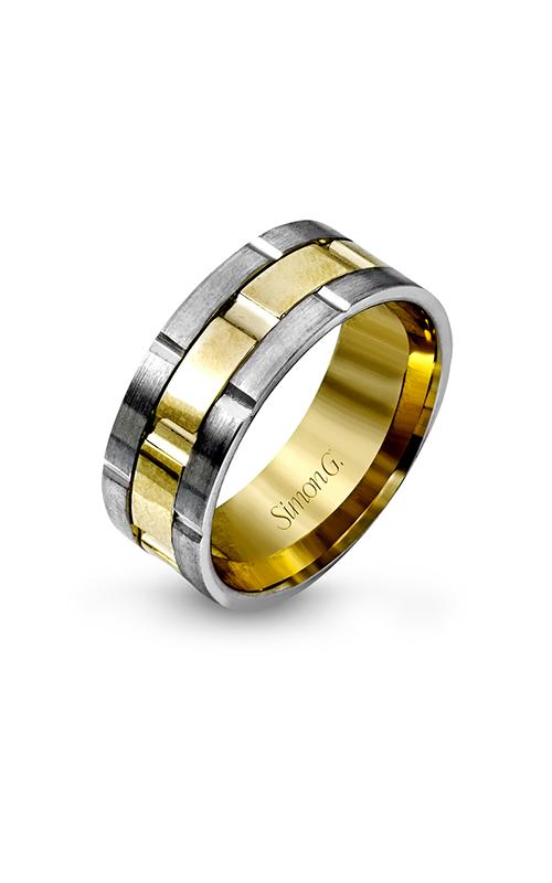 Simon G Men's Wedding Bands - 14k white gold, 14k yellow gold  Wedding Band, LG100 product image