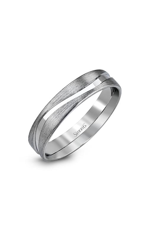 Simon G Men's Wedding Bands - 14k white gold  Wedding Band, LG122 product image