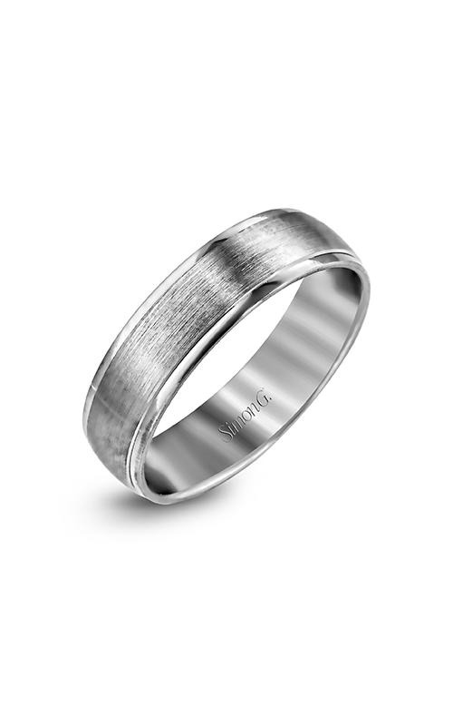 Simon G Men's Wedding Bands - 14k white gold  Wedding Band, LG124 product image