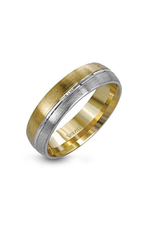 Simon G Men's Wedding Bands - 14k white gold, 14k yellow gold  Wedding Band, LG138 product image