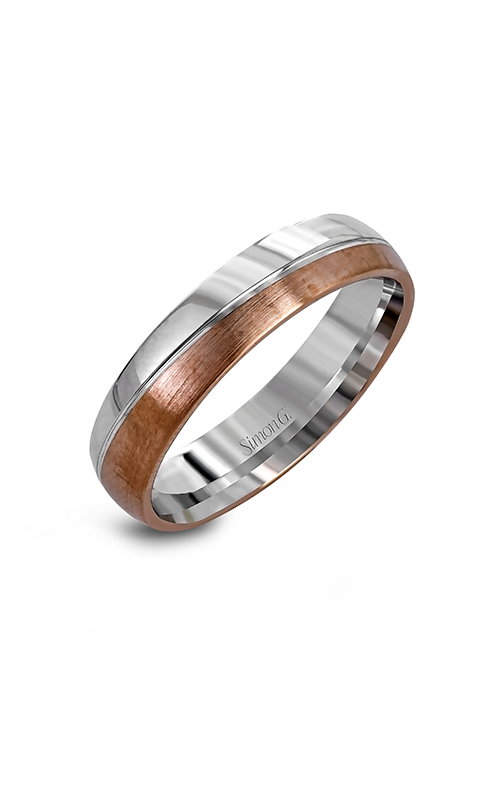 Simon G Men's Wedding Bands - 14k white gold, 14k rose gold  Wedding Band, LG139 product image
