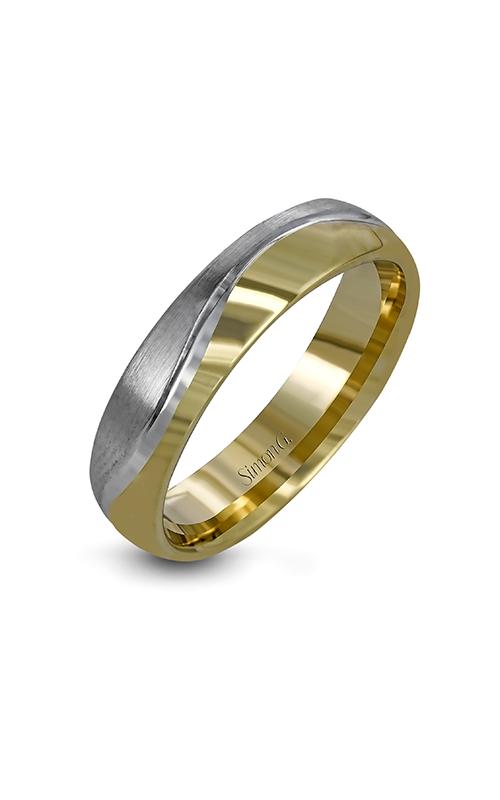 Simon G Men's Wedding Bands - 14k white gold, 14k yellow gold  Wedding Band, LG148 product image