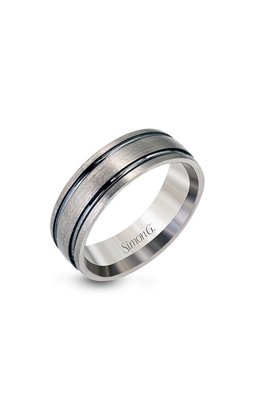 Simon G Men's Wedding Bands - 14k gray gold  Wedding Band, LP2185 product image