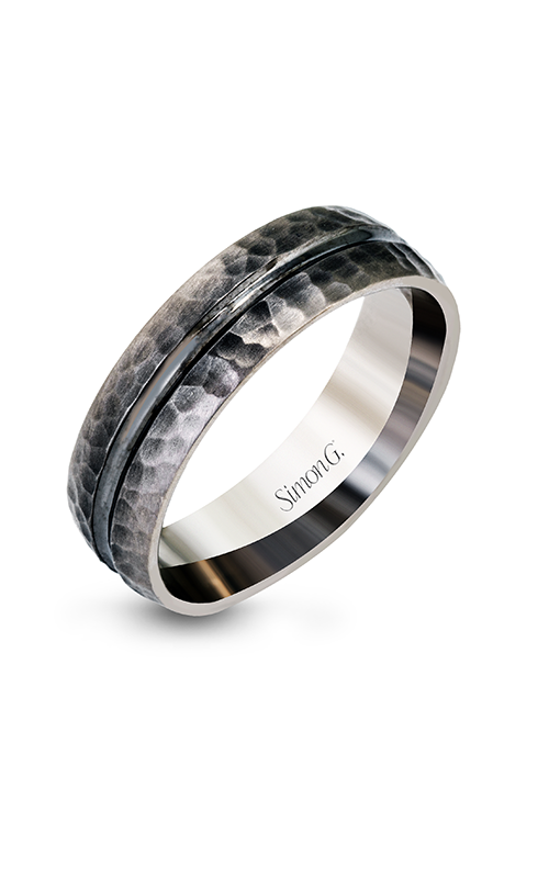 Simon G Men's Wedding Bands - 14k white gold, 14k gray gold  Wedding Band, LP2186 product image