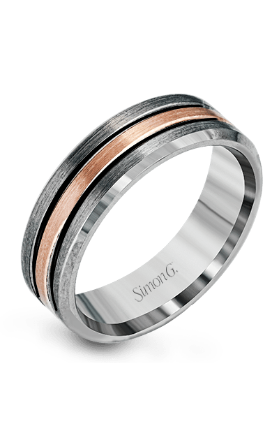 Simon G Men's Wedding Bands - 14k rose gold, 14k gray gold  Wedding Band, LP2189 product image