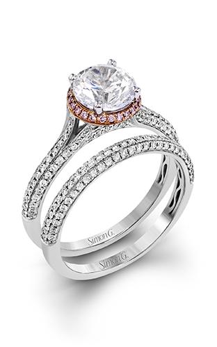 Simon G Modern Enchantment - 18k white gold, 18k rose gold 0.54ctw Diamond Engagement Ring, MR2737 product image