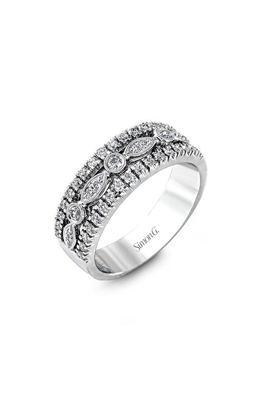 Simon G Vintage Explorer - 18k white gold 0.46ctw Diamond Wedding Band, MR1174 product image