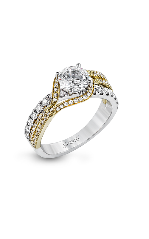 Simon G Classic Romance - 18k yellow gold, 18k white gold 0.66ctw Diamond Engagement Ring, DR357 product image