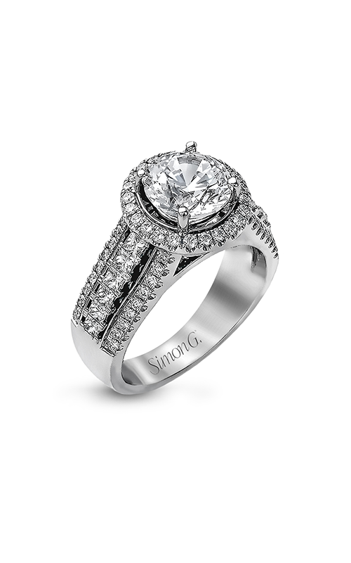 Simon G Passion - 18k white gold 1.10ctw Diamond Engagement Ring, MR1502 product image