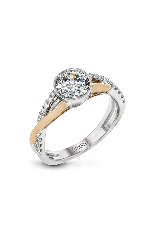 Simon G Classic Romance - 18k white gold, 18k rose gold 0.19ctw Diamond Engagement Ring, MR2881 product image