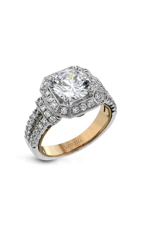 Simon G Passion - 18k white gold, 18k rose gold 0.84ctw Diamond Engagement Ring, NR509 product image