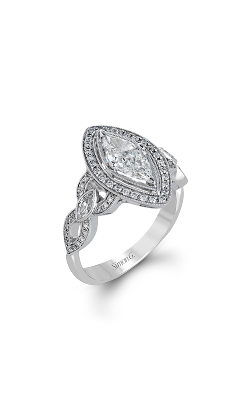 Simon G Passion - 18k white gold 0.41ctw Diamond Engagement Ring, TR601 product image