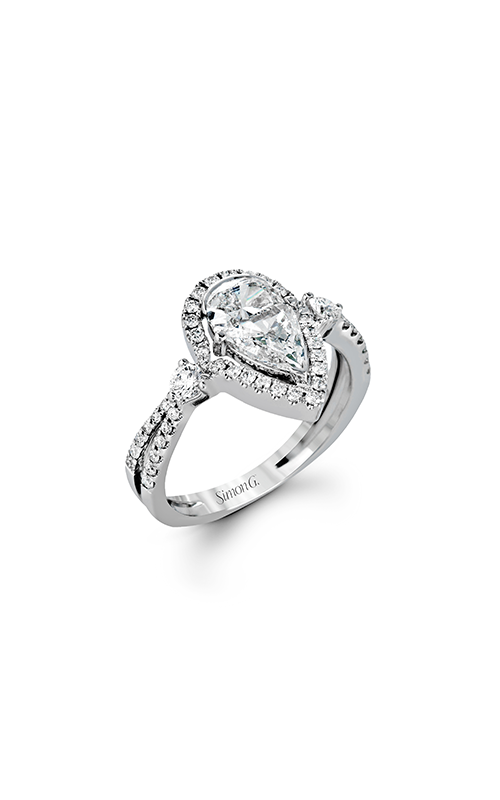 Simon G Passion - 18k white gold 0.44ctw Diamond Engagement Ring, TR603 product image