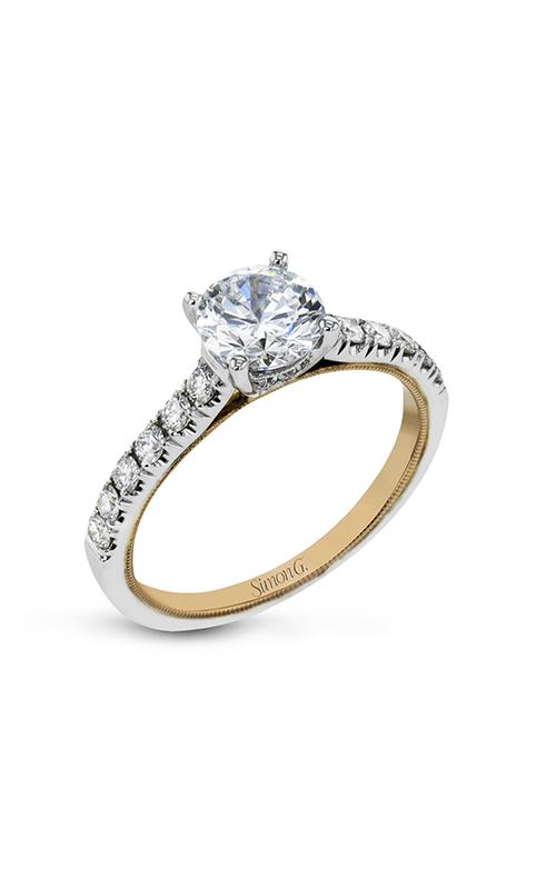 Simon G Classic Romance - 18k white gold, 18k rose gold 0.37ctw Diamond Engagement Ring, TR654 product image
