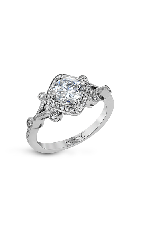 Simon G Vintage Explorer - 18k white gold 0.20ctw Diamond Engagement Ring, TR656 product image