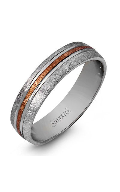 Simon G Men's Wedding Bands - 14k white gold, 14k rose gold  Wedding Band, LG101 product image