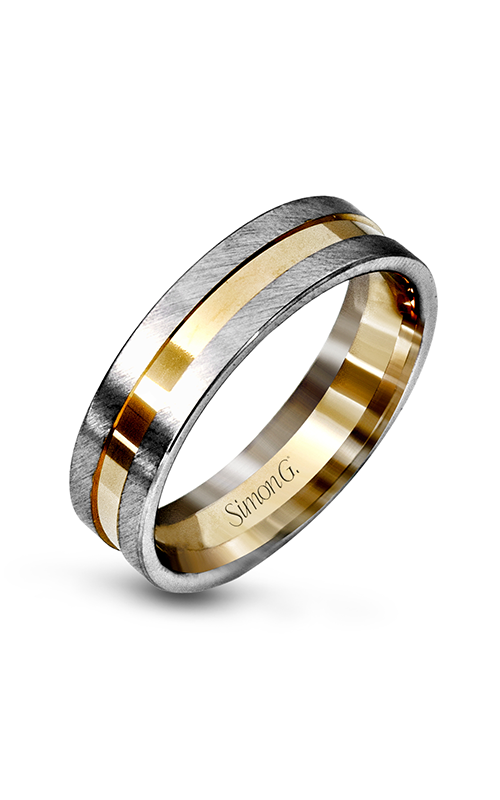 Simon G Men's Wedding Bands - 14k yellow gold, 14k white gold  Wedding Band, LG105 product image