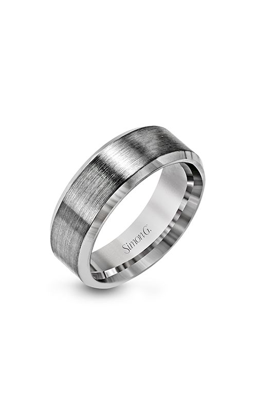 Simon G Men's Wedding Bands - 14k white gold  Wedding Band, LG151 product image