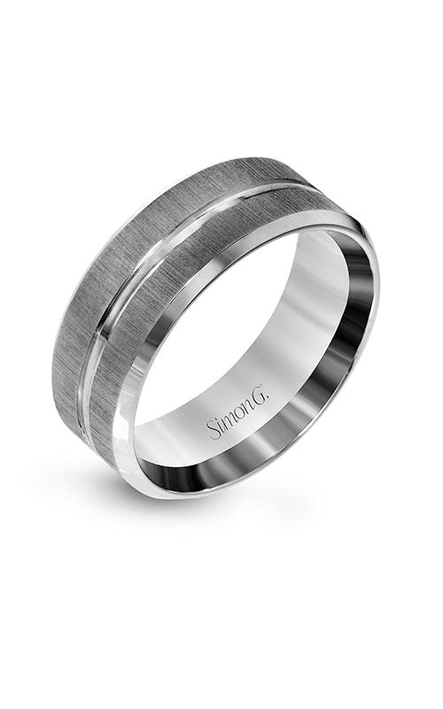 Simon G Men's Wedding Bands - 14k white gold  Wedding Band, LG152 product image